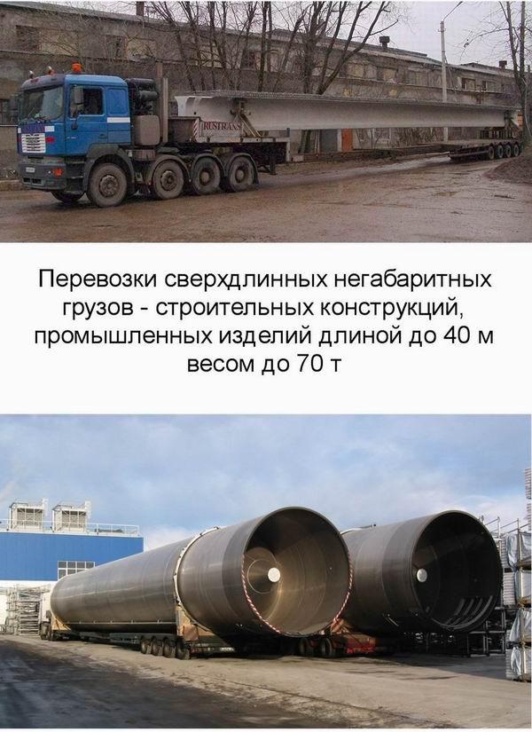 Перевозки сверхдлинных негабаритных грузов